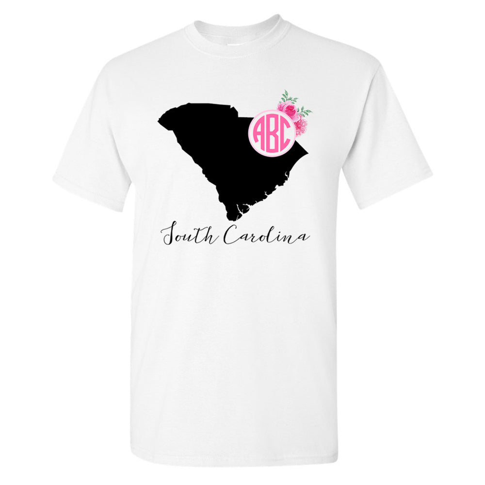 Monogrammed South Carolina State Pride Tee