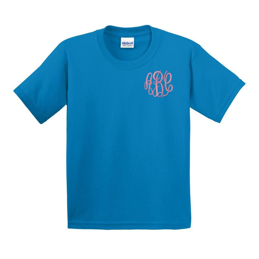 Kids Monogrammed T-Shirt Youth Sizes