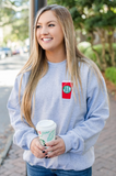 Monogrammed Starbucks Red Holiday Coffee Cup Crewneck Sweatshirt