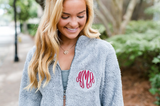 Monogrammed Full Zip Newport Fleece Sherpa