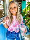Monogrammed Comfort Colors Lilly Big Print T-Shirt