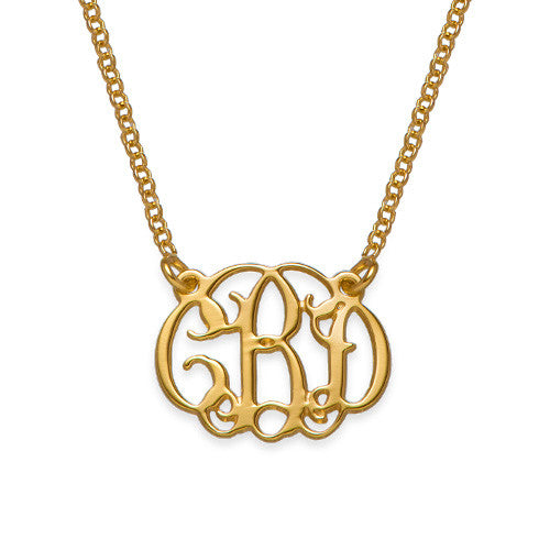 Monogrammed Gold Plating Small Necklace