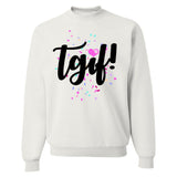 Monogrammed TGIF Confetti Friday Party Sweatshirt