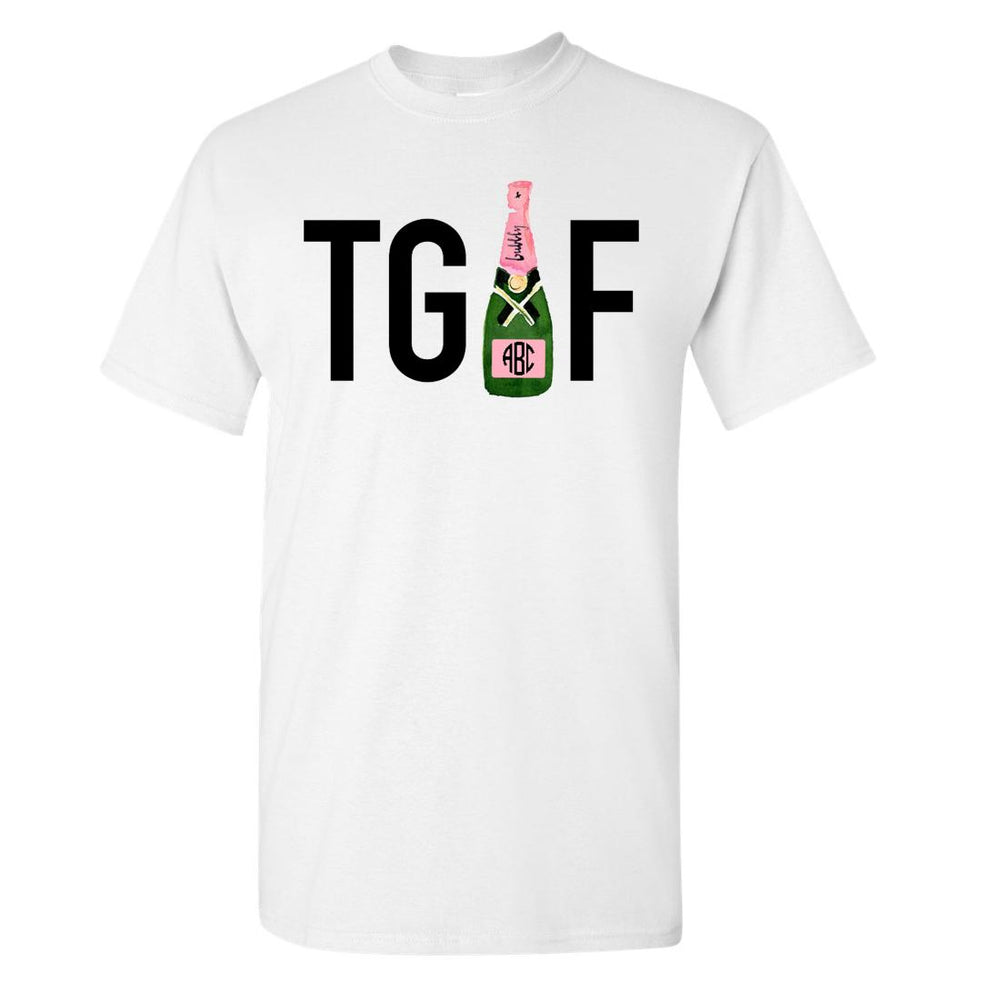 "Monogram T-Shirt with ""TGIF"""