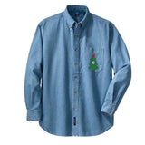 Monogrammed 'Christmas Tree' Oversized Denim Shirt