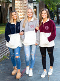 Monogrammed Fleece Sweatshirts Multiple COlors