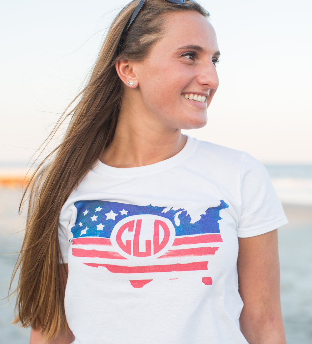 United Monogram 4th of July Graphic Tee