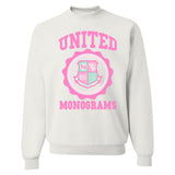 United Monograms Crest Crewneck Sweatshirt