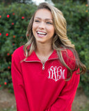 United Monograms Quarter Zip Model
