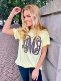 Designer Dupe Monogram Big Print Comfort Colors T-Shirt Cute