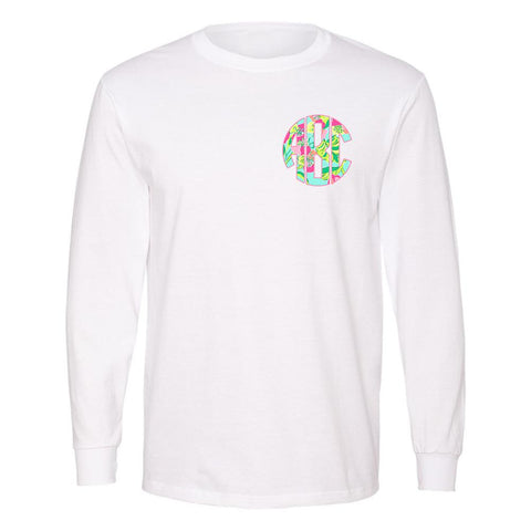 Monogrammed Lilly Pulitzer Inspired Premium Long Sleeve Shirt
