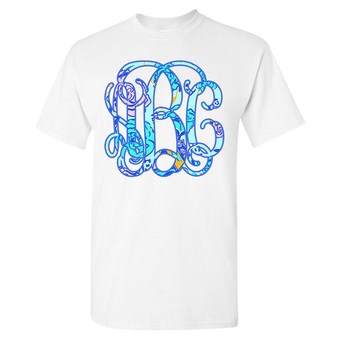 Monogrammed Lilly Sorority Big Print T-Shirt