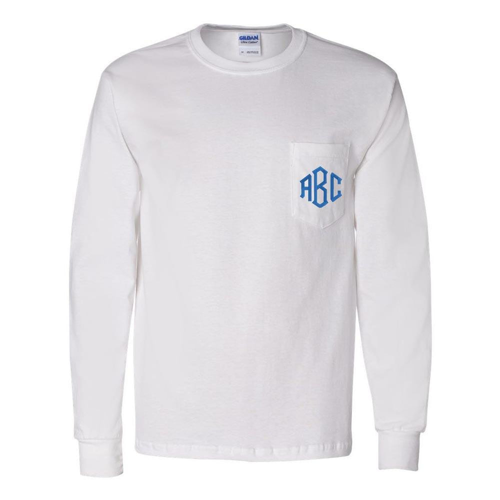 Monogram Long Sleeve Pocket T-shirt