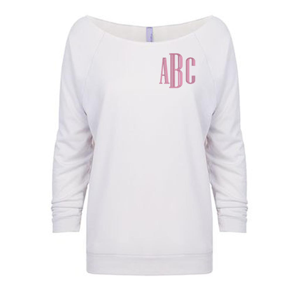 Monogrammed Off The Shoulder Raglan
