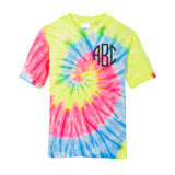 Kids Youth Monogrammed Tie Dye T-Shirt