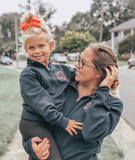 Kids Girls Monogrammed Quarter Zip