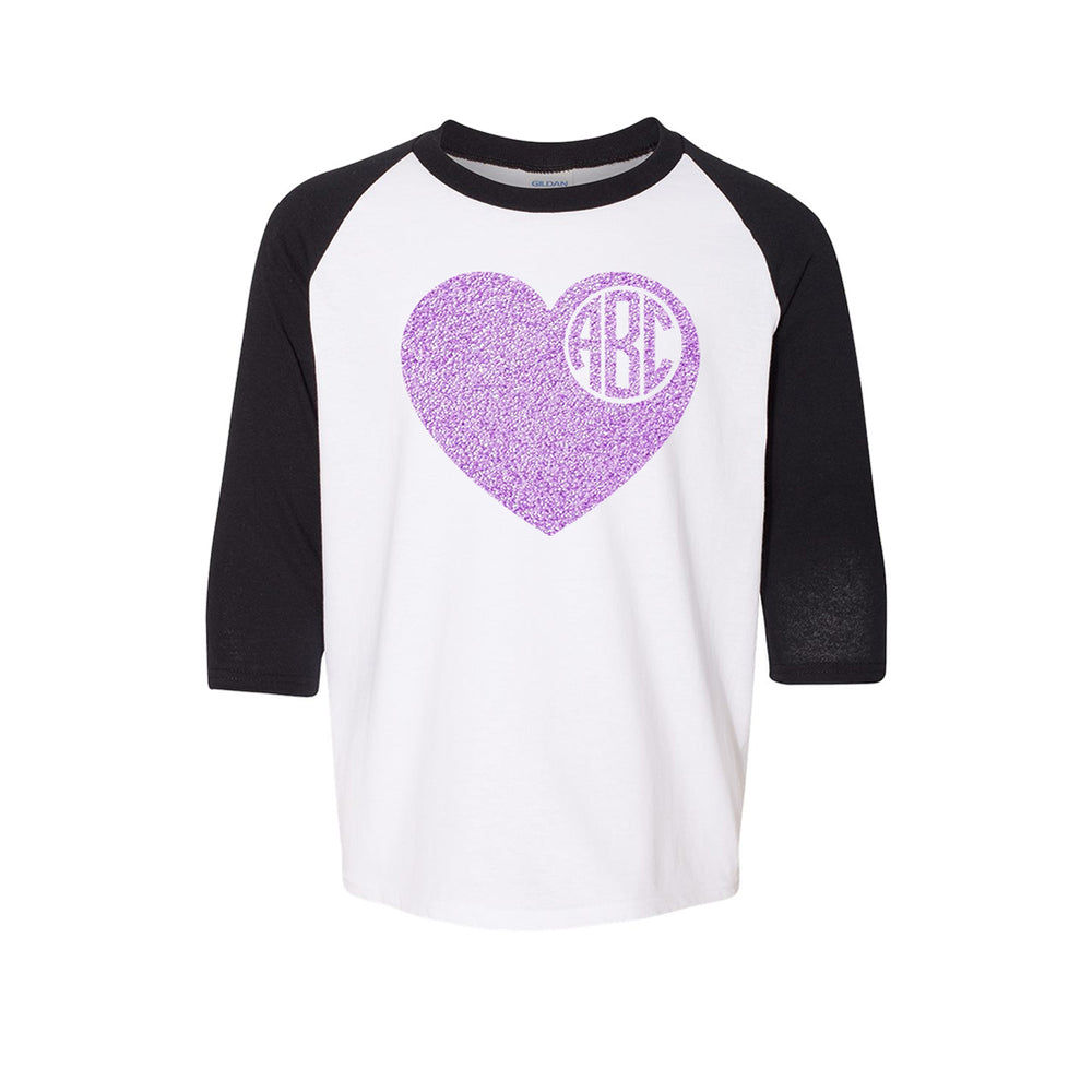Glittter Heart Vinyl Youth Tee