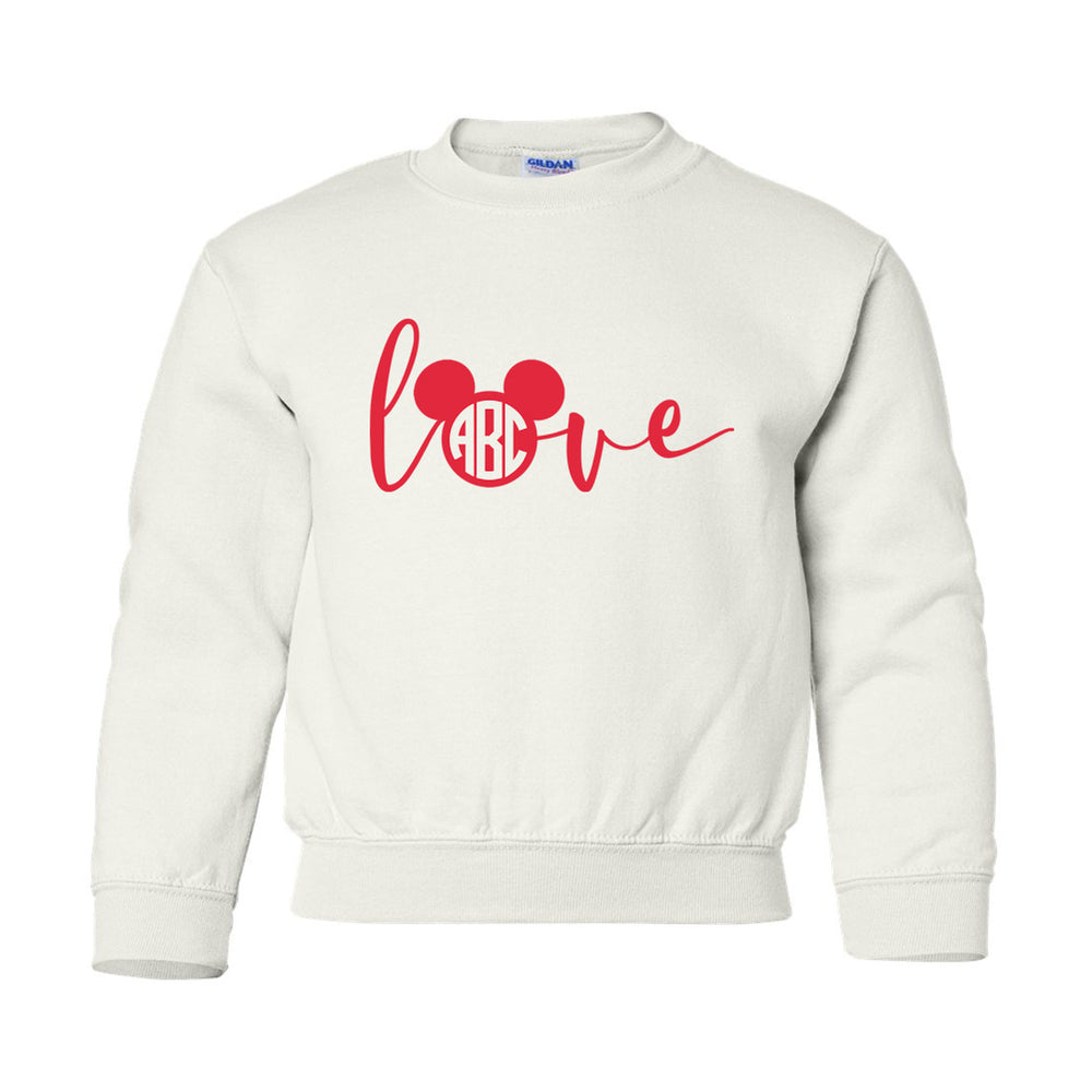 Kids Monogrammed 'Love Mickey' Crewneck Sweatshirt