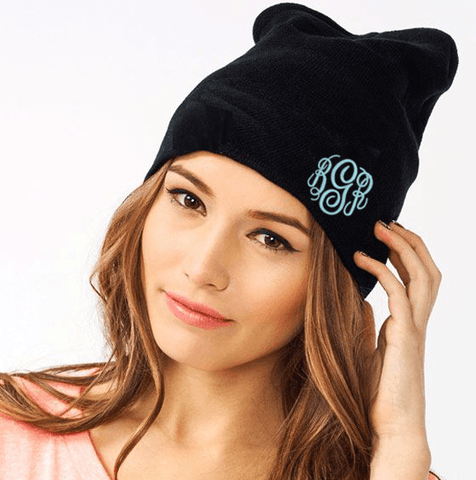 Monogrammed Beanie Winter Hat