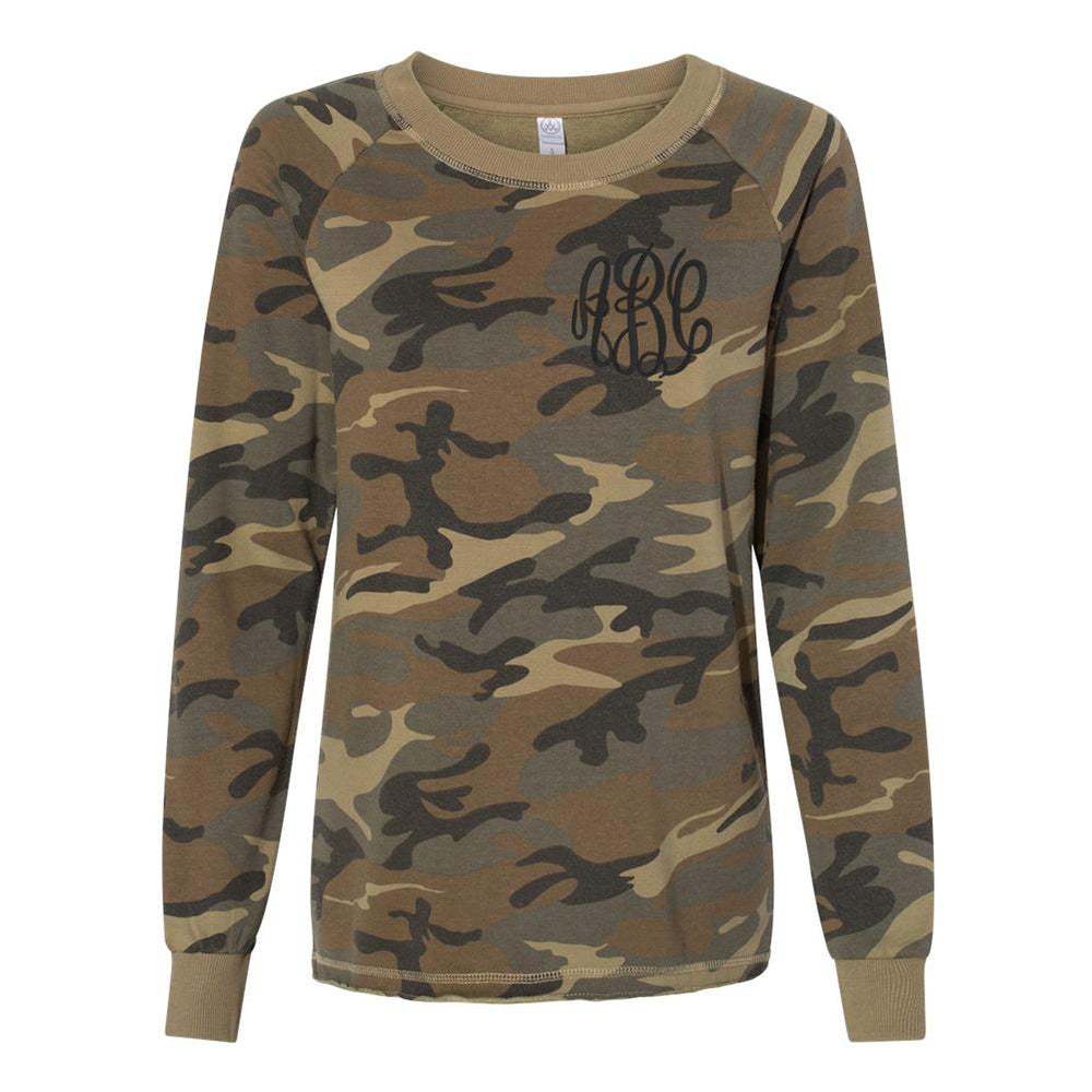 Monogrammed Camo French Terry Sweatshirt
