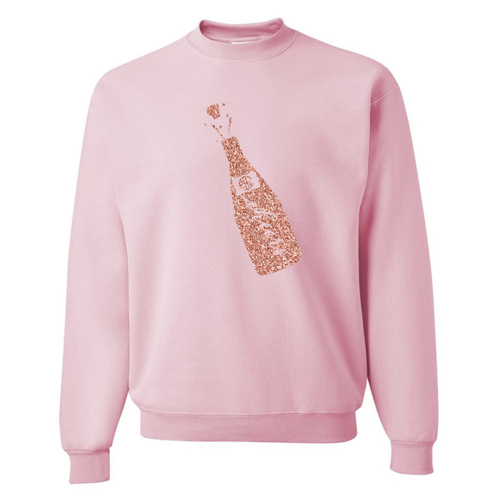 Monogrammed Glitter 'Celebration Cheers' Crewneck Sweatshirt