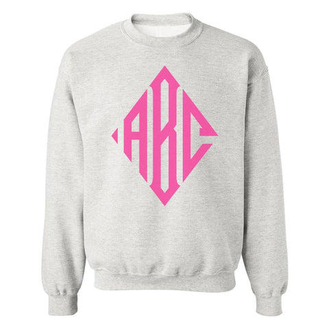 Monogrammed Diamond Big Print Crewneck Sweatshirt