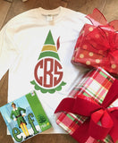 Elf Graphic Monogram for Youth & Kids