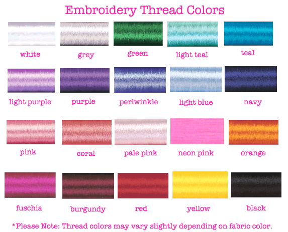 United Monograms Embroidery Thread Options
