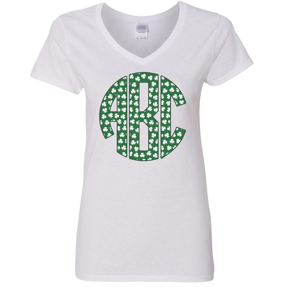Monogrammed Irish Shamrock shirt