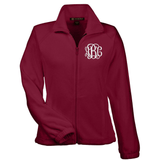 Monogrammed Full Zip Fleece