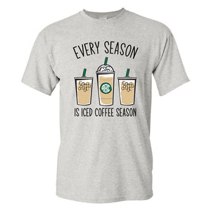 Monogrammed 'Iced Coffee Season' T-Shirt
