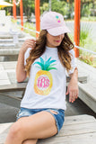Monogrammed Pineapple Hat