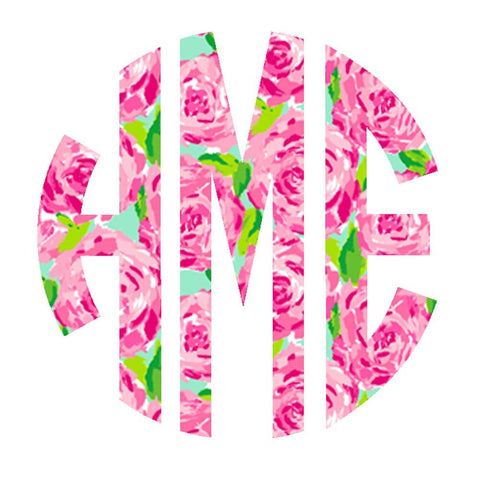 Lilly Monogram Decal (Variety of Sizes)