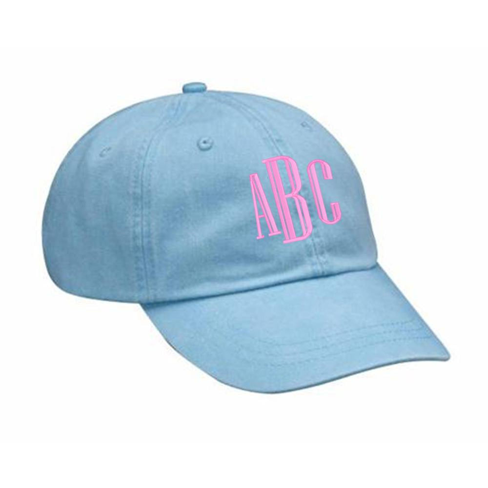 Hat light blue monogram