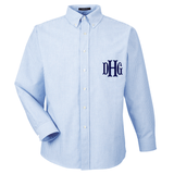 Monogrammed Oversized Long Sleeve Oxford