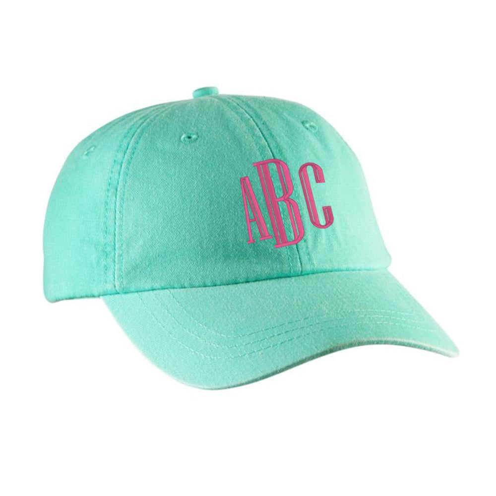 Monogrammed Baseball Hat- Mint