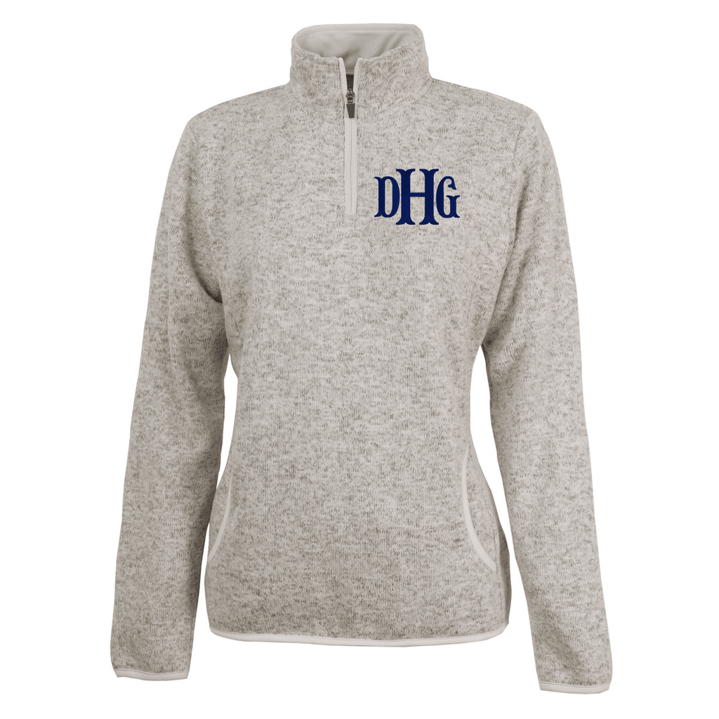 Heather Monogrammed Pullover