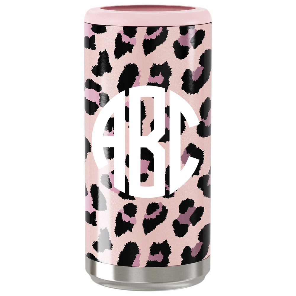 Monogrammed Pattern Skinny Can Cooler