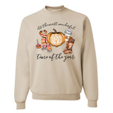 fall monogram sweatshirt
