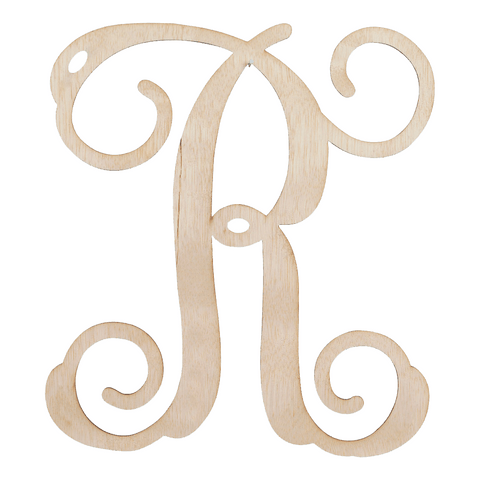 Single Initial Wooden Monogram