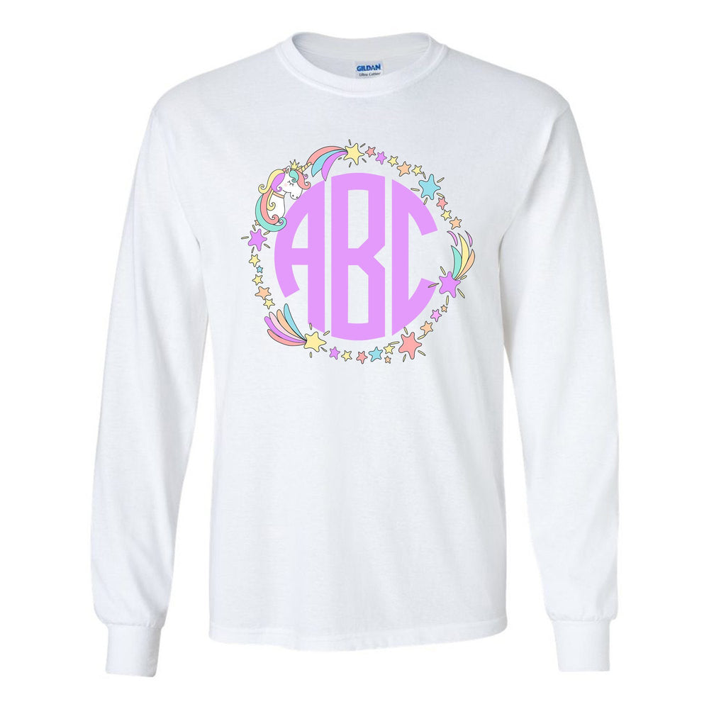 Unicorn and Gems Monogram Shirt