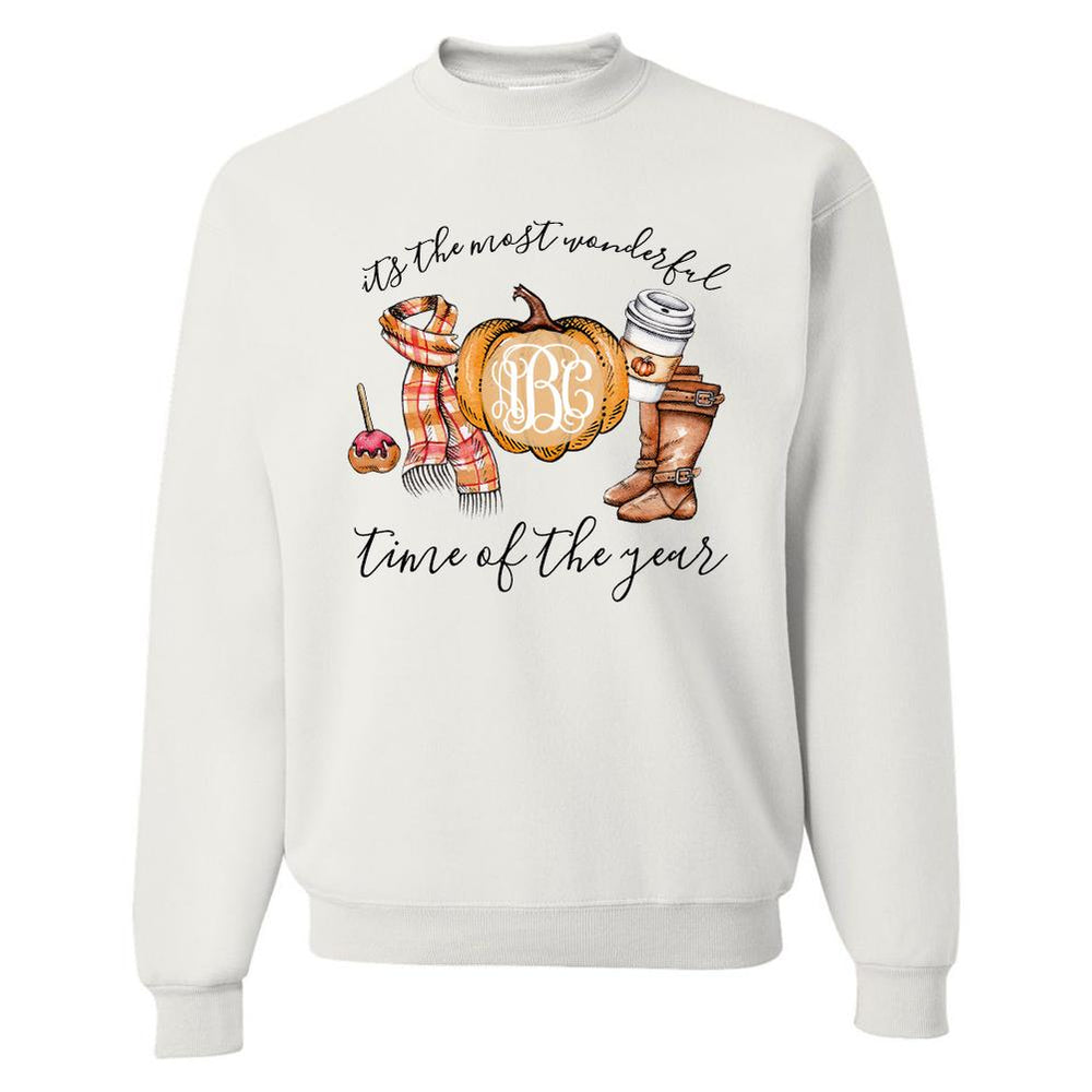 Pumpkins and Fall Sweatshirt