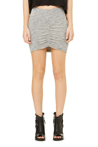 Micro-Stripe Front Shirred Mini Skirt - Killer Dolce
