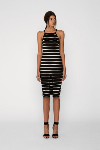 Don't Panic Midi Dress, Black - Killer Dolce