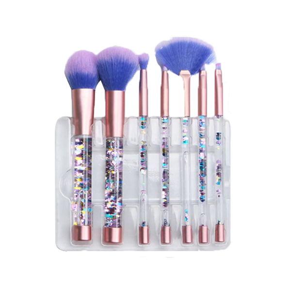 7 Pcs/Set Transparent Fluid Crystal Brush