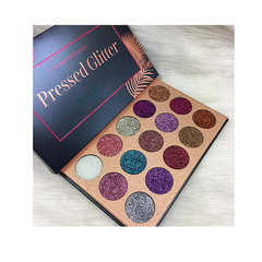 15 Color Pressed Glitter Eyeshadow Palette