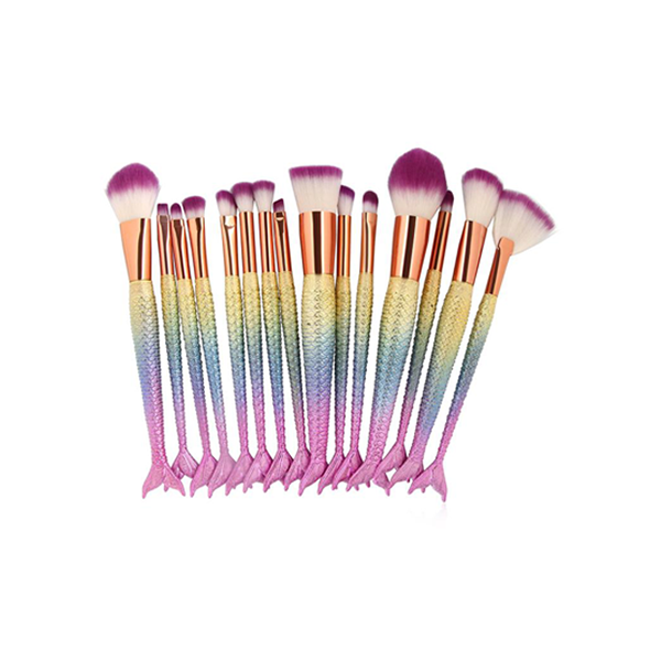 15 Pcs Multipurpose Mermaid Make Up Brush