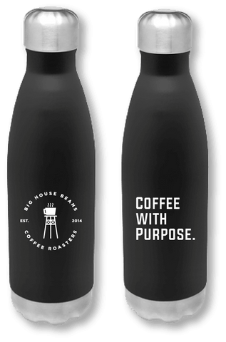 Coffee with Purpose Stainless Steel Travel Bottle - Big House Beans