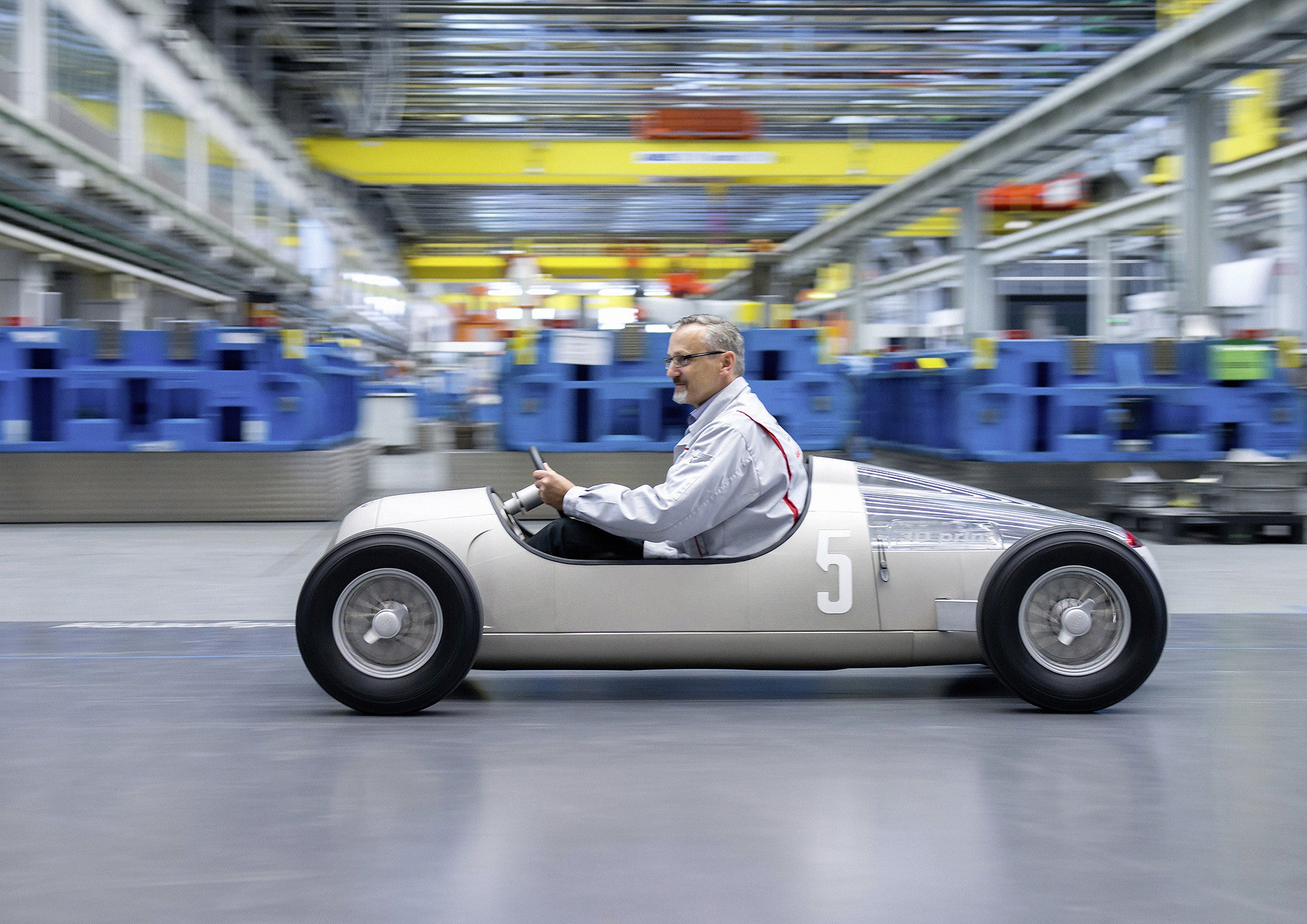 Audi Builds A 1:2-scale Auto Union Race Car With 3D-printing