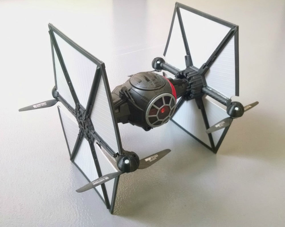 3D Printed Star Wars TIE Fighter Quadcoptor